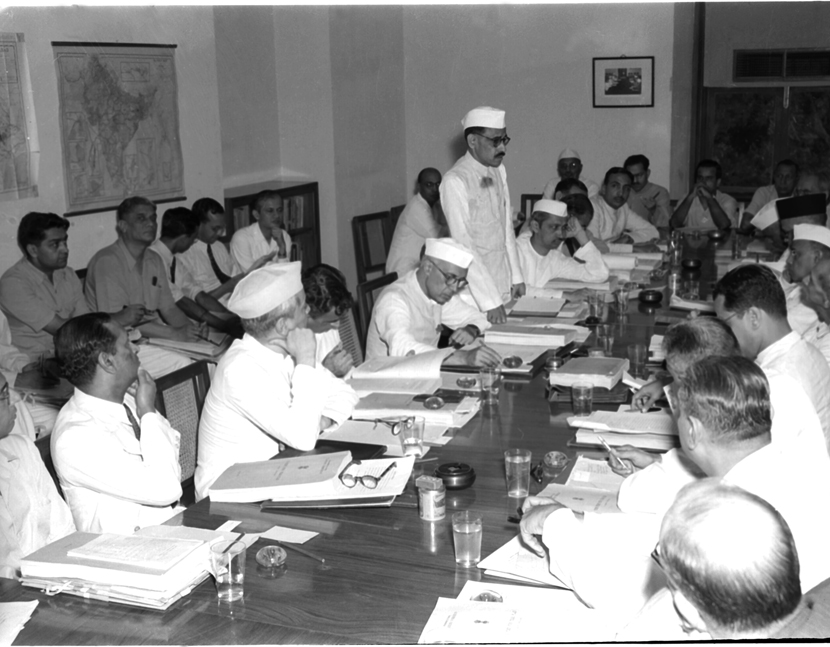 A meeting of the Advisory Board of the Planning Commission in 1951. Image: Photo division, Government of India.
