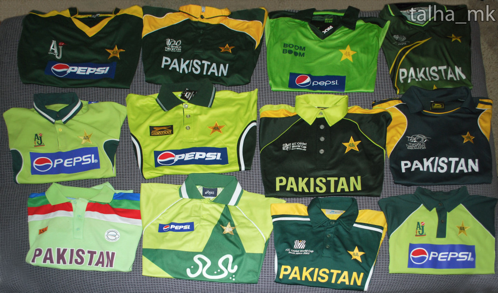 bd51c5b286b Pictures  Evolution of World Cup jerseys from cricket whites to coloured  pyjamas