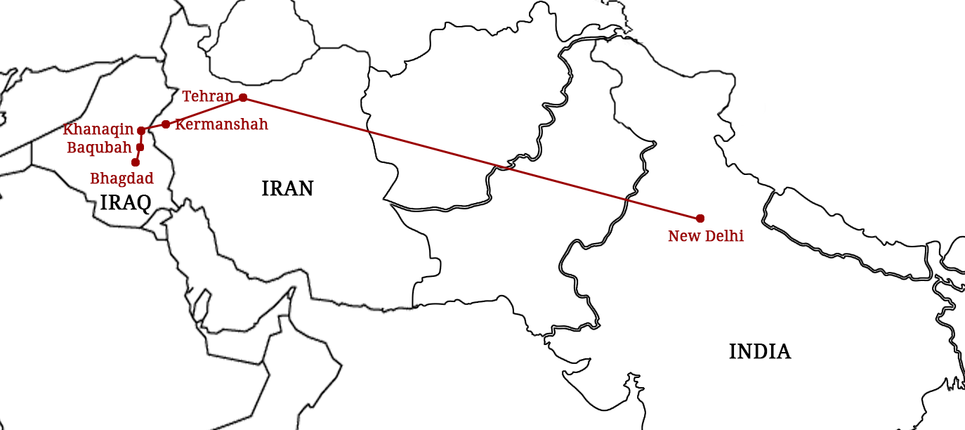 Scud Missiles In Iraq And Biryani In Iran How Indians Fled The - Iraq distance from us map