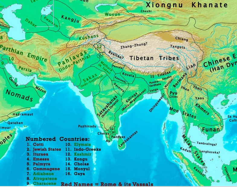 Map Of Asia 800 Ad.The Changing Map Of India From 1 Ad To The 20th Century