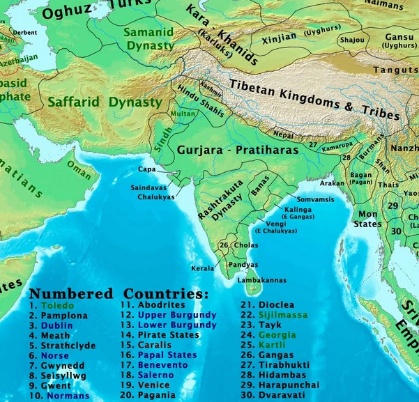 The changing map of india from 1 ad to the 20th century kannada and telugu literature thrived in this era as did chalukyan architecture in the north the chachas dynasty began ruling over sindh by 700 ad gumiabroncs Images
