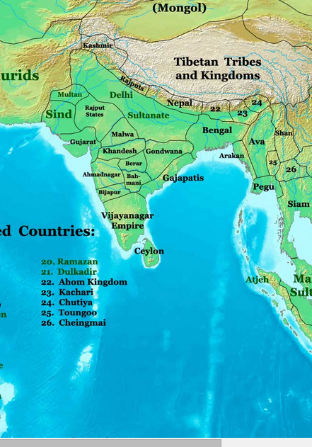 The changing map of India from 1 AD to the 20th century – IAS ...