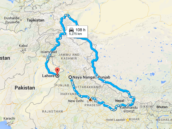 Map Of India And Pakistan Border.Even Google Maps Knows How Dysfunctional India Pakistan Relations Are