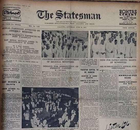 How Indian Newspapers Reported Independence And Partition In 1947