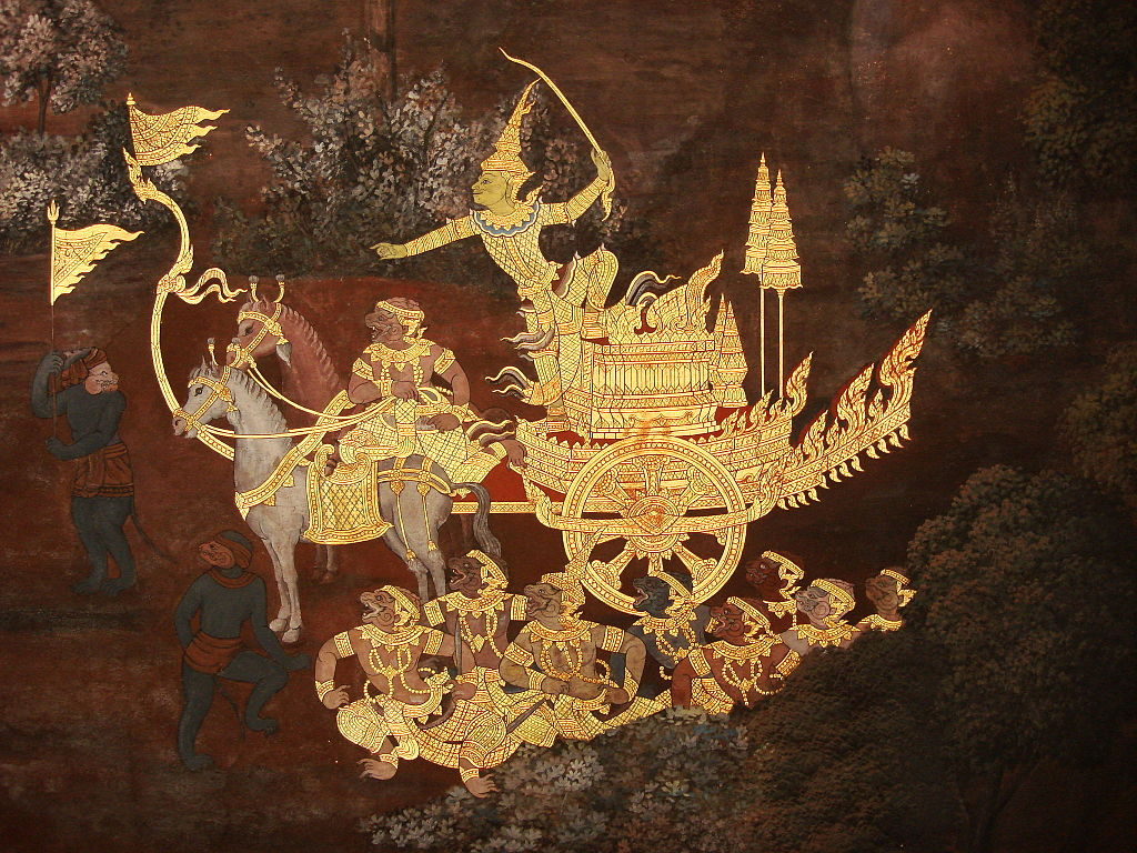 how did the ramayana come to adorn the walls of thailand s most phra rama with the monkey army photo credit wikimedia commons