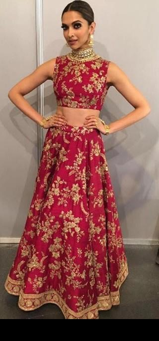 Shop Deepikapadukone Diwali2017 Accessories Lehenga Skirt On