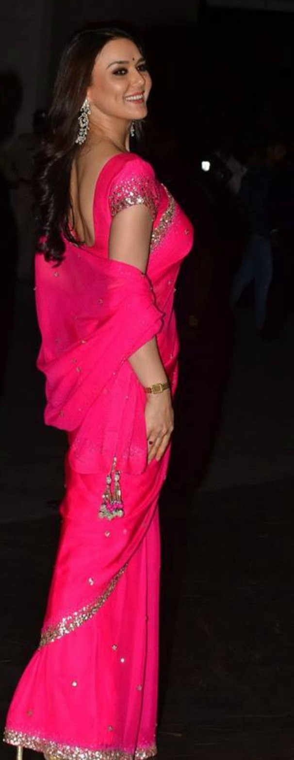 want a similar pink colour saree worn by preity zinta. Any leads ? - SeenIt