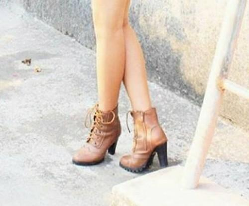 want similar brown block heeled ankle length boots - SeenIt