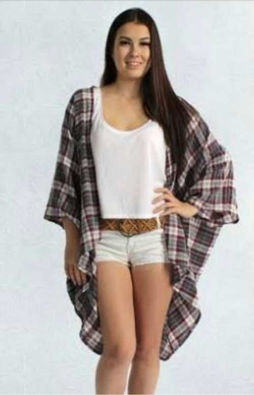 want a Plaid kimono on domestic website please. - SeenIt