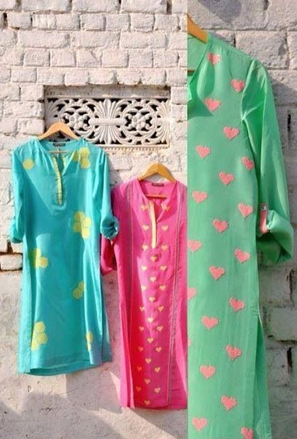 need similar casual heart print kurtis, like the green with red hearts :) - SeenIt