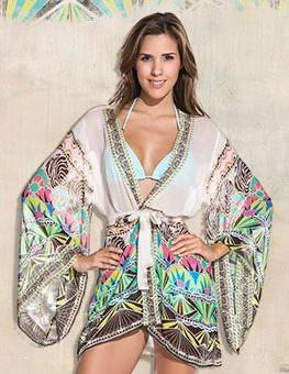 Want this cream printed kimono - SeenIt