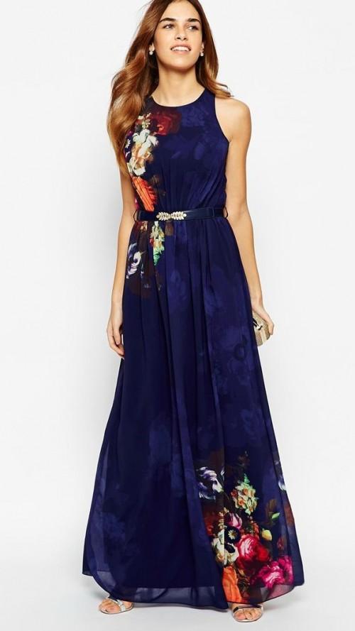 Find me a similar navy maxi dress - SeenIt