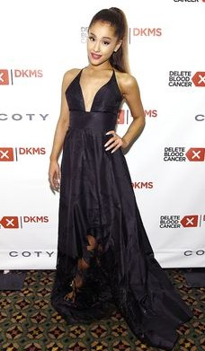 need a black plunge neckline gown with a tail - SeenIt