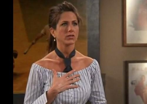 Want the striped off shoulder top that Rachel Green is wearing t - SeenIt