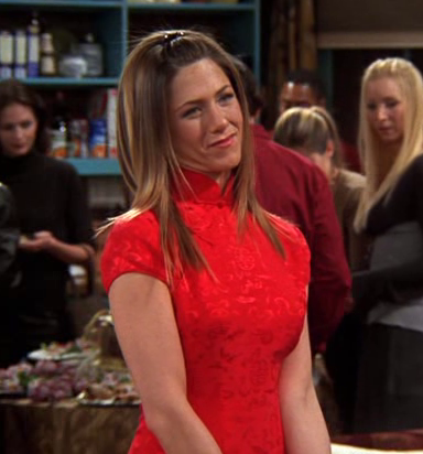 Needed a Chinese styled dress this time like jennifer aniston is wearing . Any help? - SeenIt