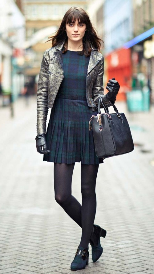 Yay or Nay? the plaid skater dress with a shimmer short jacket - SeenIt