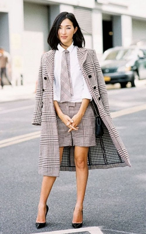 Want a monochrome houndstooth coat badly - SeenIt