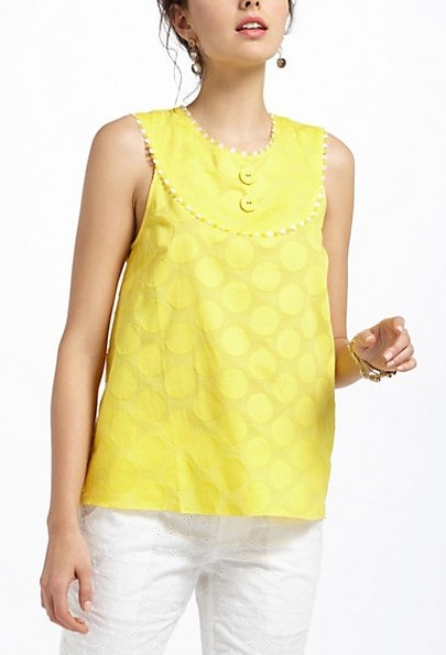 This yellow short kurta with white denims would be perfect for me to wear for college! - SeenIt