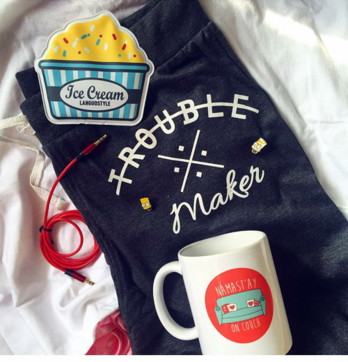 Want all of it. Help me find this trouble maker sweatpants, mug and ice pack. - SeenIt