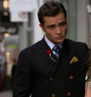 Want this double breasted black coat worn b y chuck in gossip girl - SeenIt