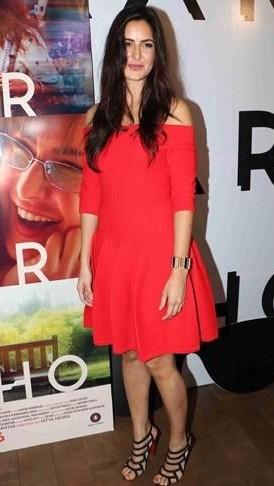 Katrina looking hot af as usual! Help me find a similar red off shoulder flared dress ! - SeenIt