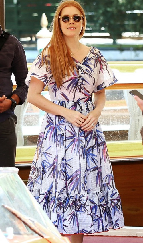Amy Adams wore Emilio Pucci while arriving in Venice for the Film Festival. - SeenIt