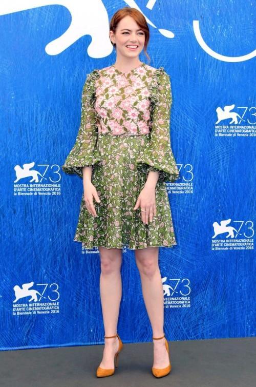 Emma Stone at the La La Land photocall at Venice Film Festival. - SeenIt