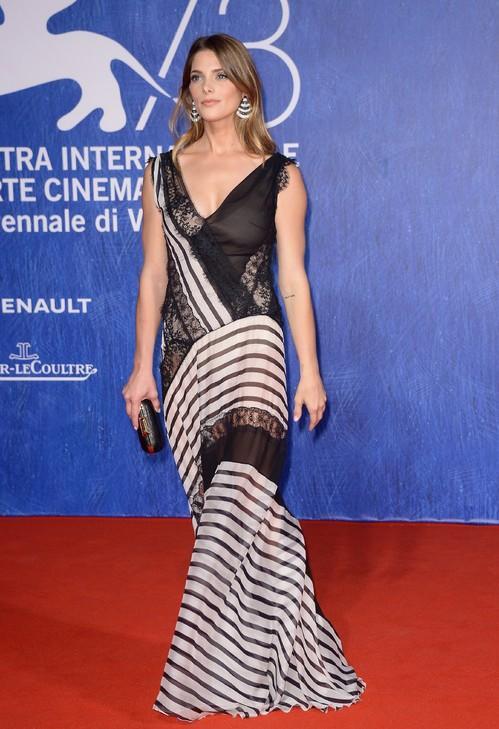 Ashley Greene wearing Alberta Ferretti at the Venice Film Festival. - SeenIt