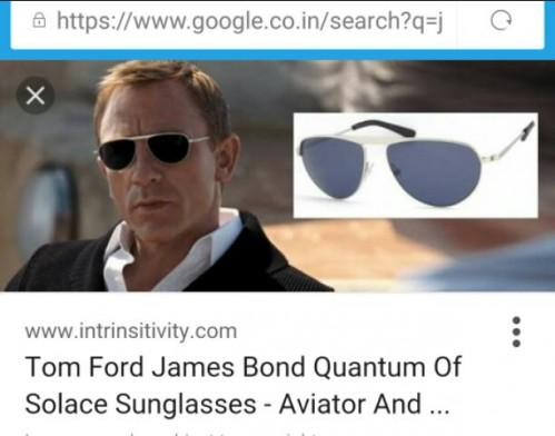 Daniel Craig as James Bond in black aviators - SeenIt