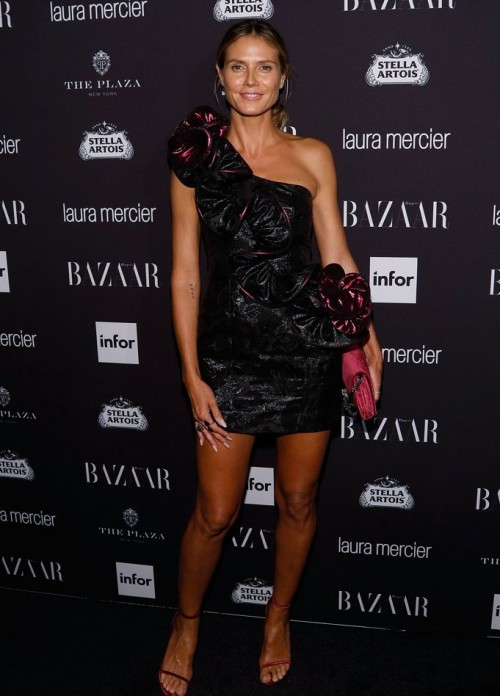 Heidi Klum at Harper's Bazaar's Icons party. - SeenIt