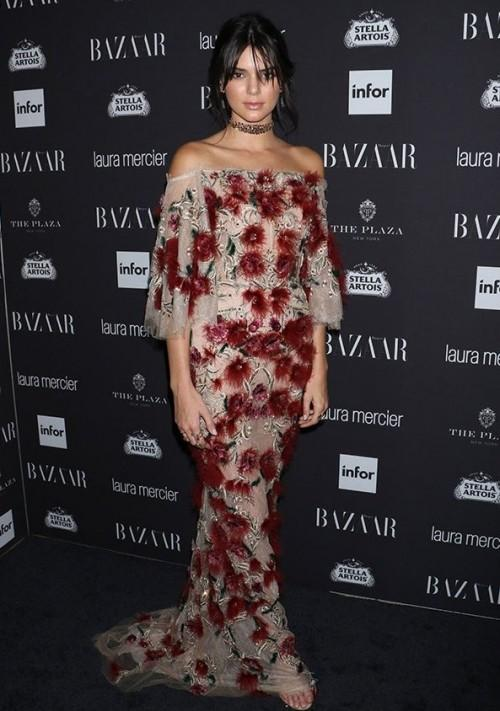 Kendall Jenner during Harper's Bazaar ICONS party at the New York Fashion Week. - SeenIt