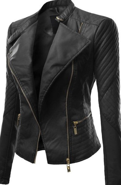 Love this black faux leather biker jacket!! - SeenIt