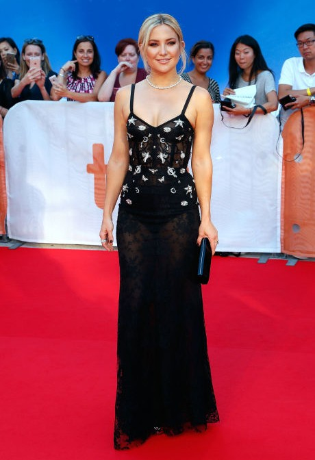 Kate Hudson dazzles in Alexander McQueen at the premiere of