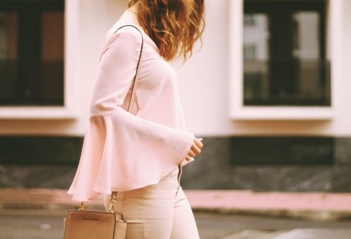 need this Bell sleeve top in babypink colour.. - SeenIt