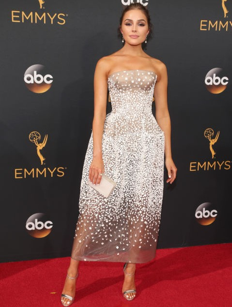 Olivia Culpo in a Zac Posen dress at the Emmy Awards 2016. - SeenIt