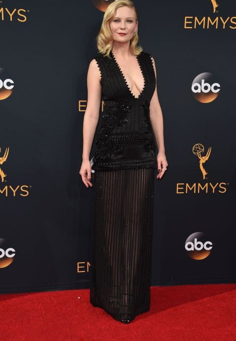Kirsten Dunst wearing Givenchy at the Emmy Awards 2016. - SeenIt