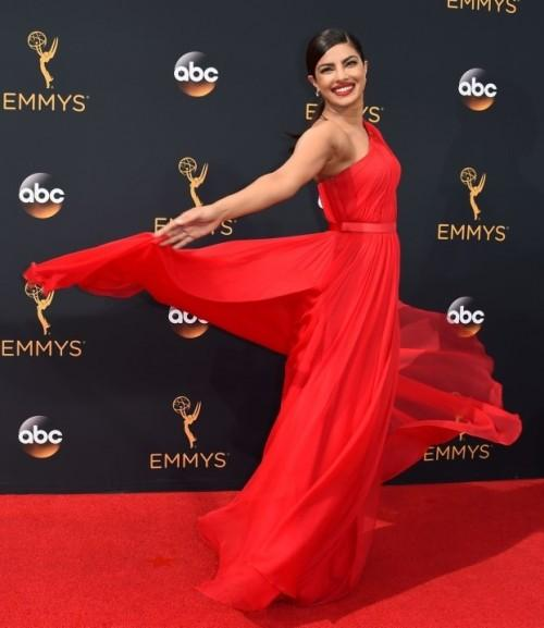 Our beloved PC killing the scene at the Emmys in a custom made Jason Wu gown. - SeenIt