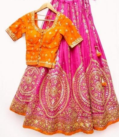 Looking for a similar colour lehenga with a similar yellow blouse - SeenIt