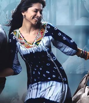 Similar to Deepika Padukone's blue printed tunic from the movie love aj kal on domestic sites.. - SeenIt