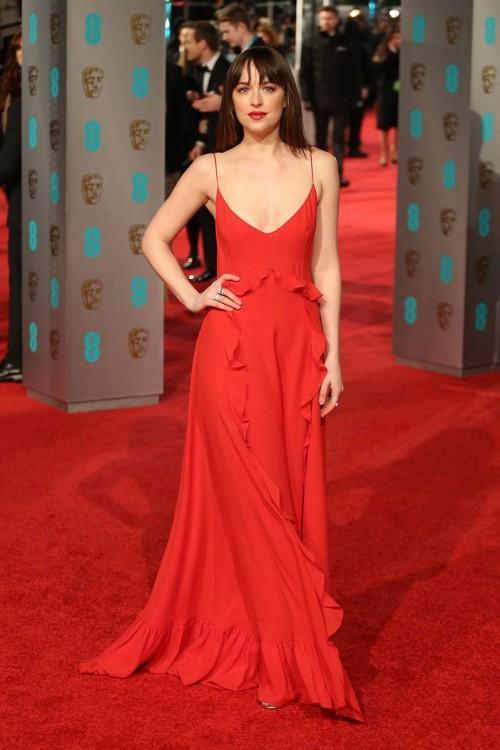 Dakota Johnson in Dior at the BAFTA Awards 2016. - SeenIt