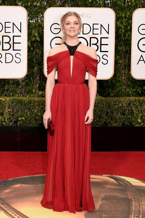 Natalie Dormer in J.Mendel at the Golden Globe Awards 2016. - SeenIt