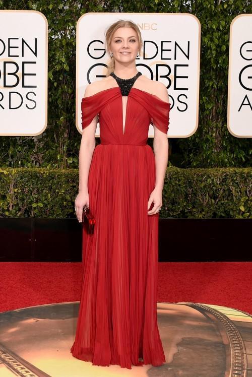 Natalie Dormer in J.Mendel at the Golden Globe Awards 2016. - SeenIt