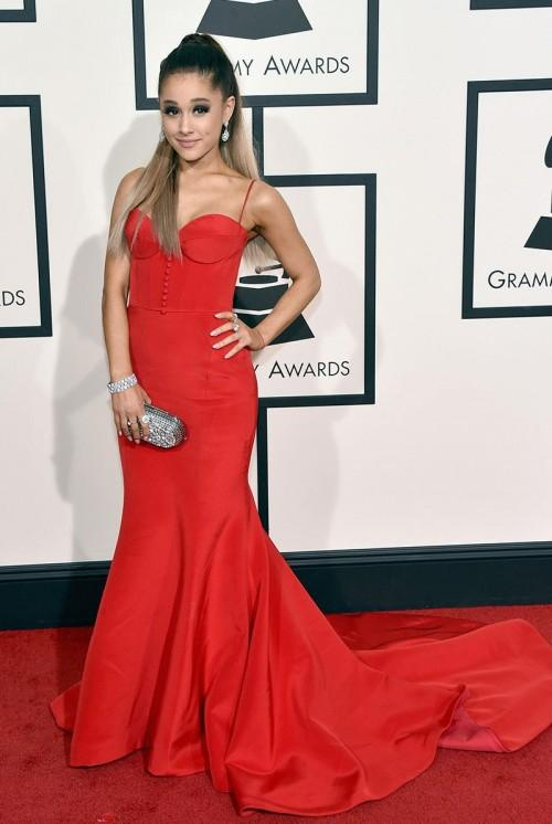 Ariana Grande in Romona Keveza at the Grammy Awards 2016. - SeenIt