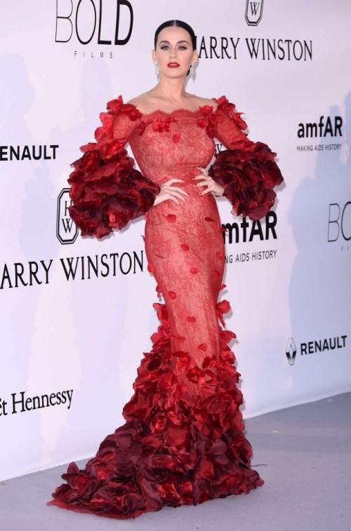 Katy Perry in Marchesa at Cannes 2016. - SeenIt