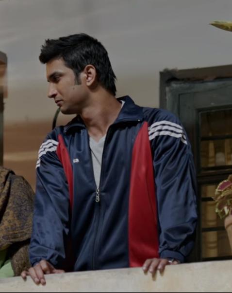 I want sushant singh rajputs blue sporty windbreaker sweatshirt.. Please help me find something similar.. - SeenIt