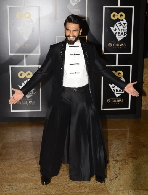 Actor of the Year, Ranveer Singh, shocking us with his attire at the GQ Style Awards. - SeenIt