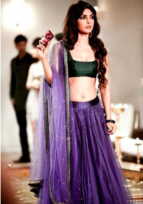 Love this colour on PC, looking for a this purple lehenga choli one! - SeenIt