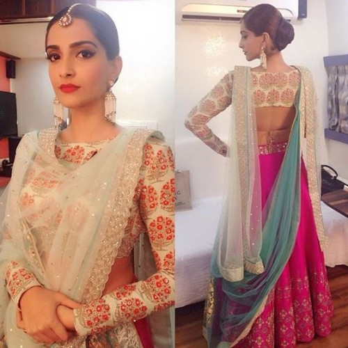 Help me find this sonam' s hot pink and white lehenga online please ! - SeenIt