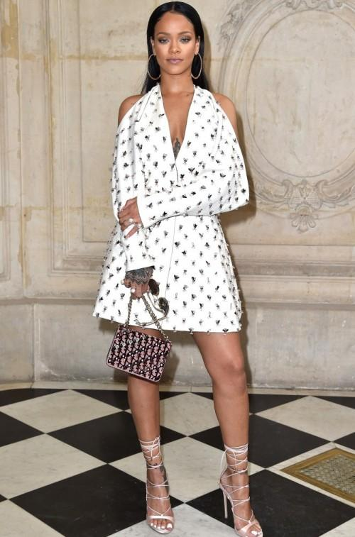 Rihanna takes on the Dior show at the Paris Fashion Week. - SeenIt