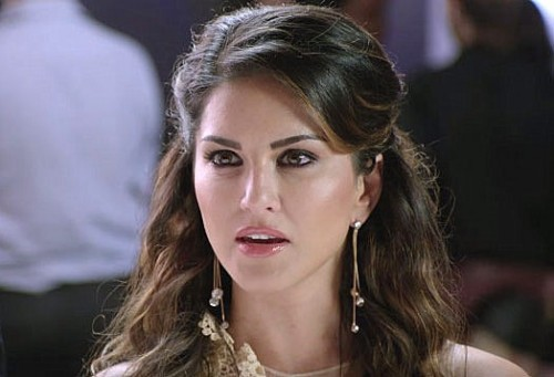 Can you help me find these long drop earrings worn by sunny leone? - SeenIt